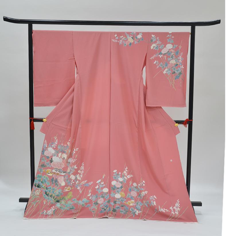 わ・ふうの訪問着- 京加賀友禅訪問着「オシドリに菊」60