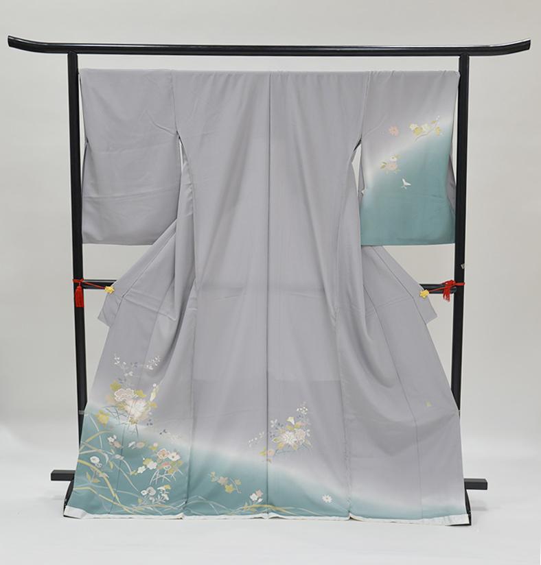 わ・ふうの訪問着- 京加賀友禅訪問着「ぼかしに裾 草花」66