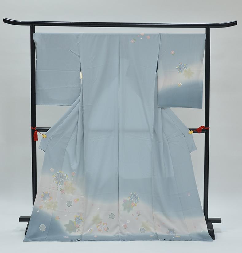 わ・ふうの訪問着- 京加賀友禅訪問着「雪輪に草花」25